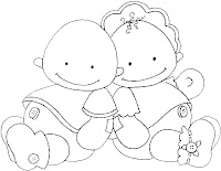 Baby%252520Friends1 Dibujos para calcar o colorear bebes