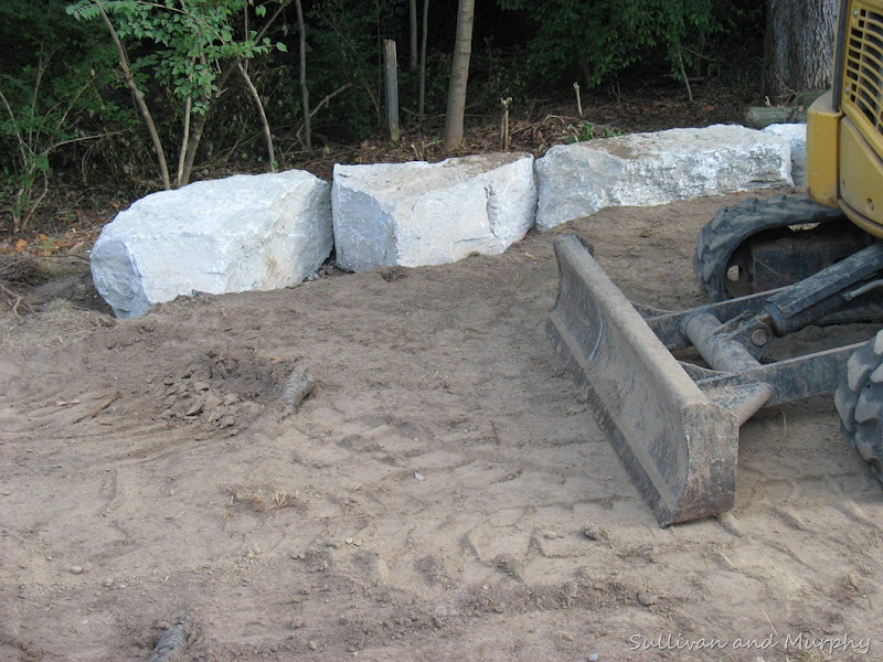stone foundation for fire pit