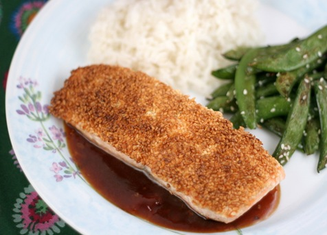 sesame crusted salmon 2