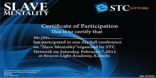 Slave Mentality Certificate