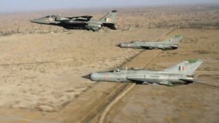 Indian Air Force [IAF] photograph - SEPECAT Jaguar &amp; MiG-21