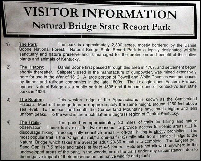 00b2a - Natural Bridge State Park - Visitor Information
