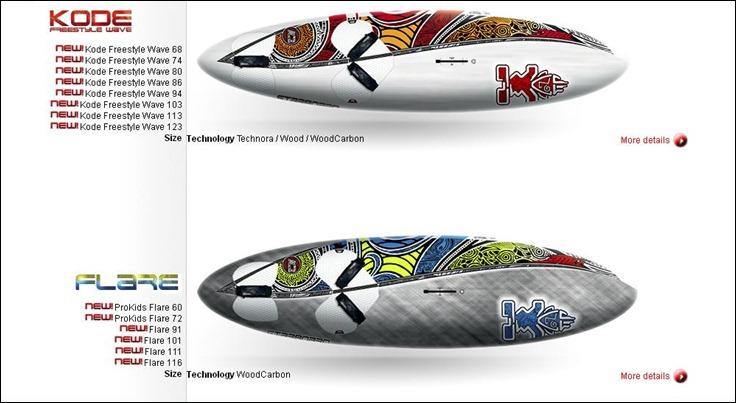 Starboard Kode & Flare 2012