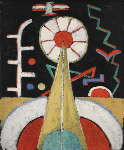 Jonathan Boos.  Marsden Hartley (American, 1877-1943).  Berlin Series, No. 1.  c. 1913.  Oil on canvas board.  18 x 15 in.