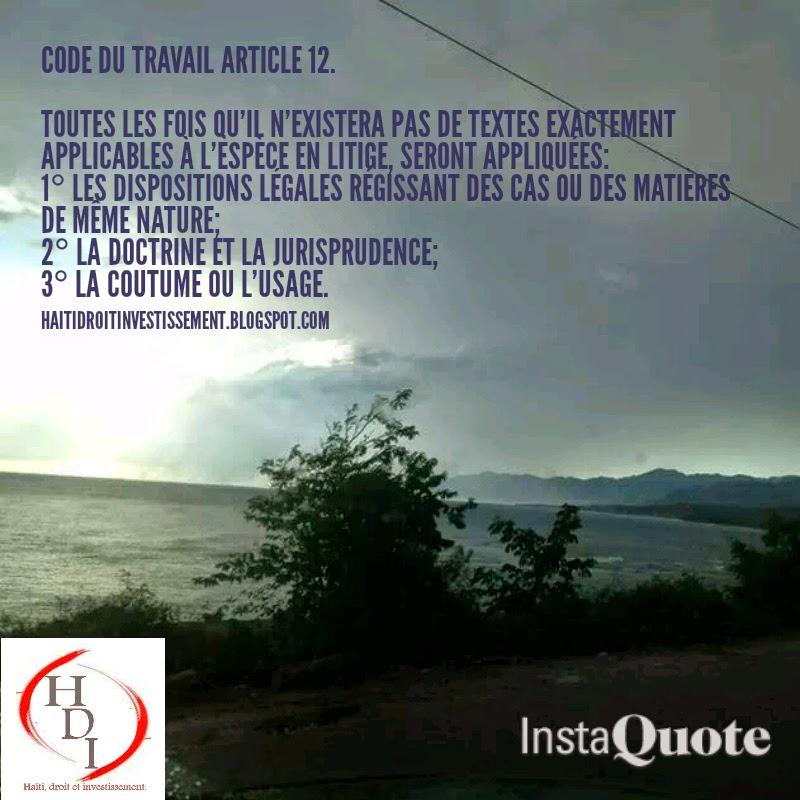 code du travail haitien 2014 pdf