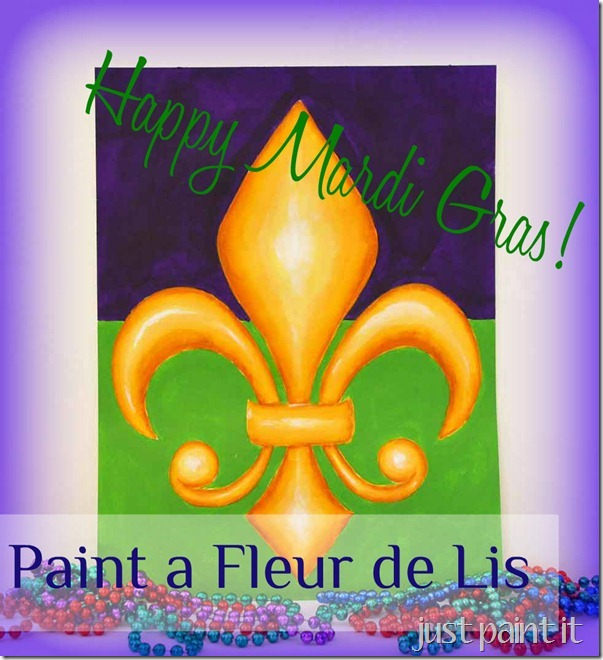 Paint a 3 d fleur de lis just paint it blog - Fleur paint ...