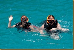 Leigh and Melissa snorkeling