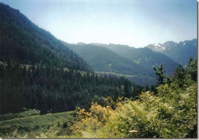 View from near Milepost 1712 on the Iron Goat Trail in 2000