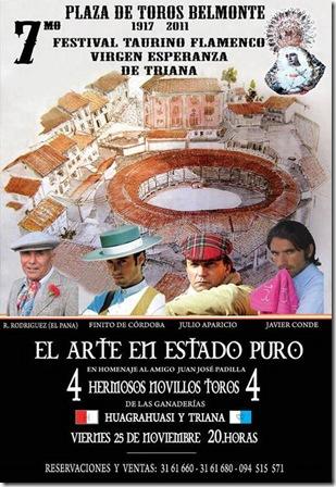 cartel plaza de toros Belmonte