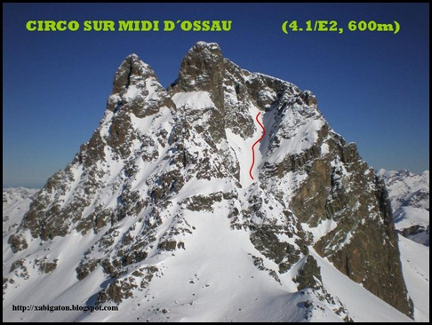 Midi d'Ossau - Circo Sur 600m 4.1-E2 (Xabigaton)