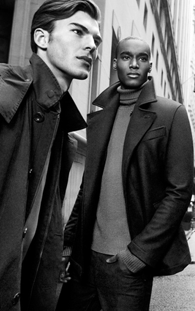 Patrick Kafka + Corey Baptiste  by Inez & Vinoodh for DKNY F/W 2011-12 campaign (detail)