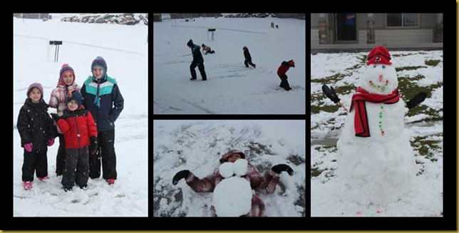 Playing-in-the-snow-collage