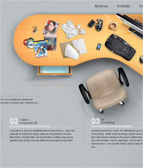10 ejemplos de sitios web con diseños de elementos de oficina
