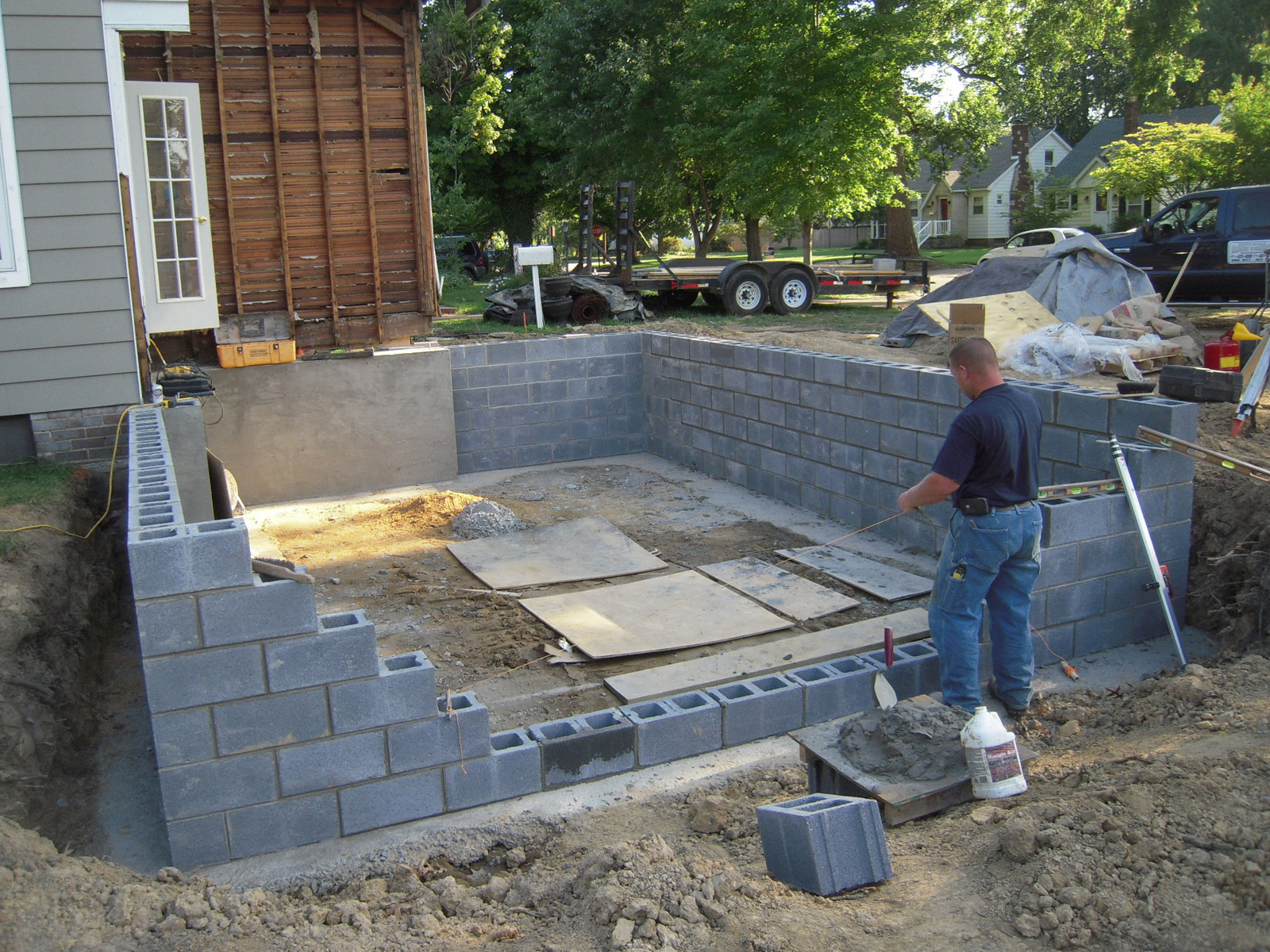 Building a shed foundation 2017 2018 best cars reviews for Block basement