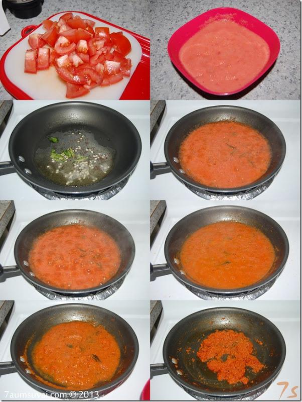 Tomato thokku process