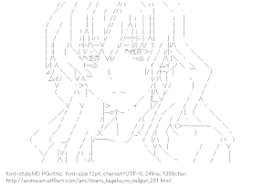 [AA]Kiyama Harumi (Toaru kagaku no railgun)