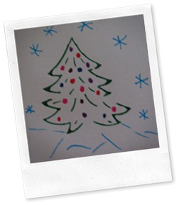 Christmas tree envelope