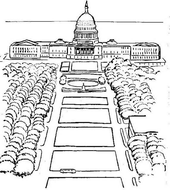 Dibujo Casa Blanca – Dibujos para imprimir