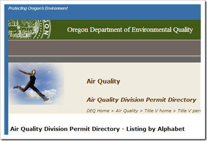 Oregon Department of Environmental Quality Air Permits