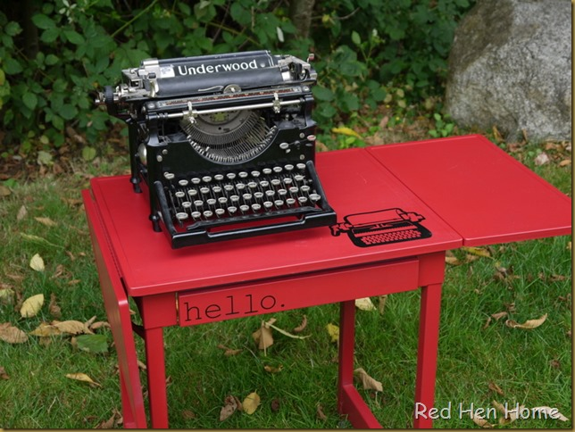 Red Hen Home Typewriter Table 3