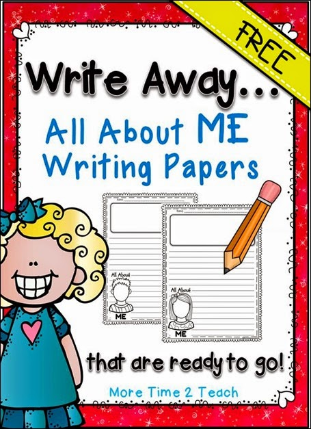 All About ME Writing Papers FREEBIE JPEG