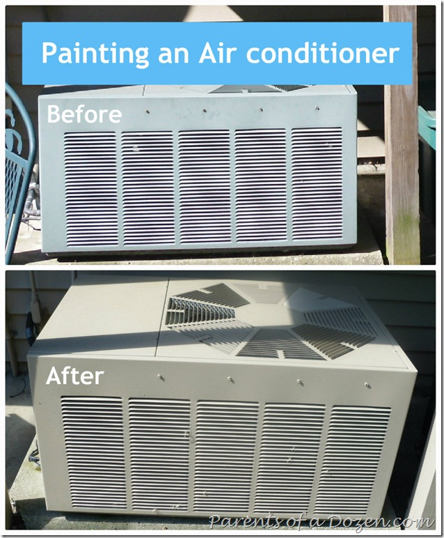 Painting an Air Conditioner 3