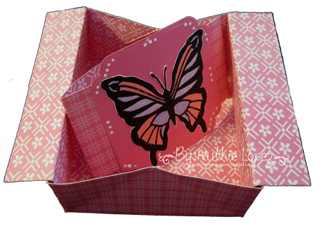 Butterfly - shadow box - box-card 2
