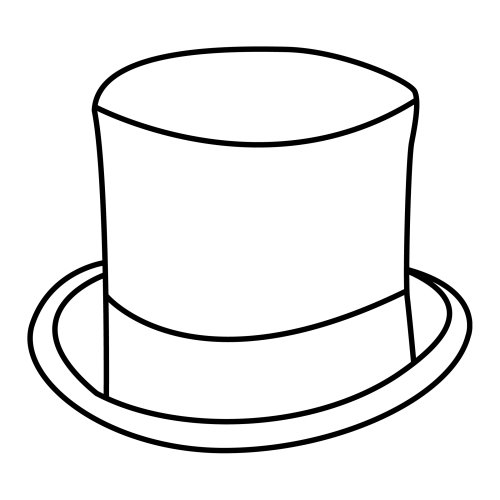 Dibujos de sombreros para colorear  Imagui