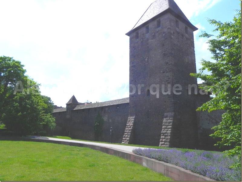 Worms Stadtmauer mit Bürgerturm