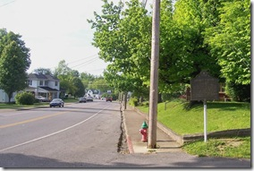 Logan's Station or St Asaph marker on Danville Road on left