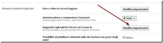 impostazioni privacy tag delle foto facebook