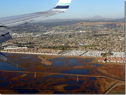 Descending to the Oakland Airport for a 2 hour layover