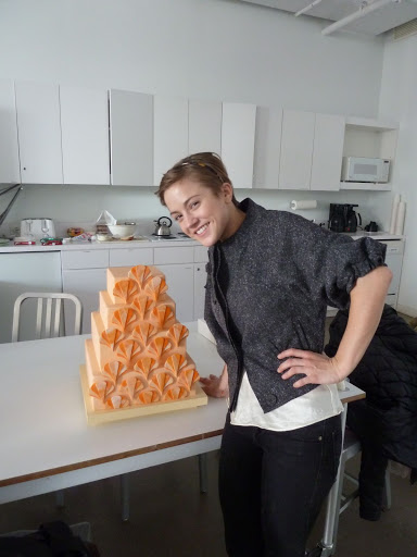 Here's Emily of Lael Cakes with her dreamy creamsicle cake.