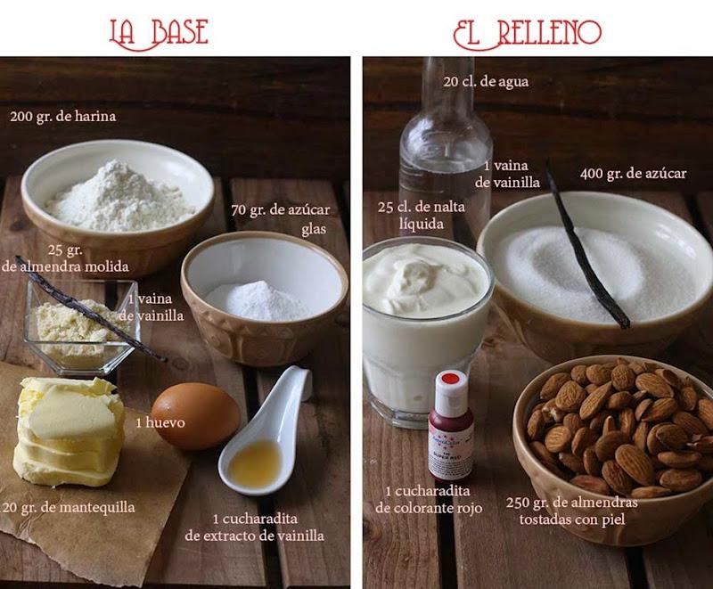 Tarta-de-pralines-rojos-ingredientes