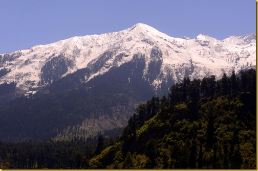 Snow capped mountains Kashmir