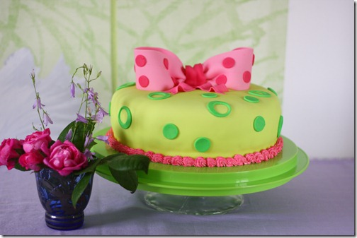torta fiocco viola pois-1