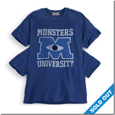 Monster University Official Clothing - Blue Vintage Tee Shirt with 4 arms