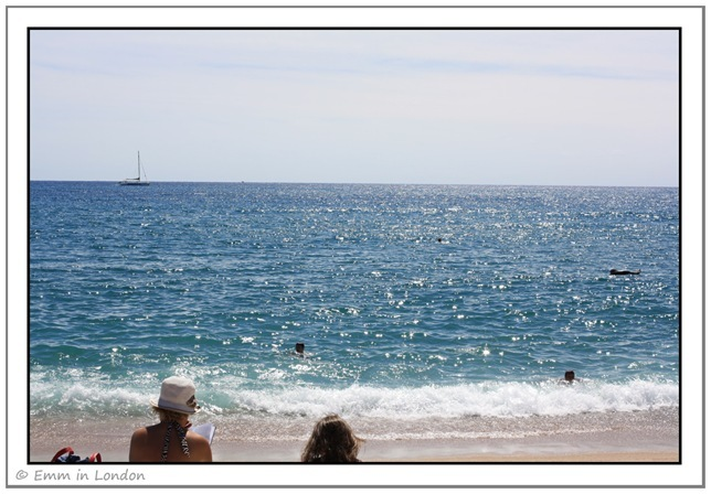 The Mediterranean from Santa Susanna