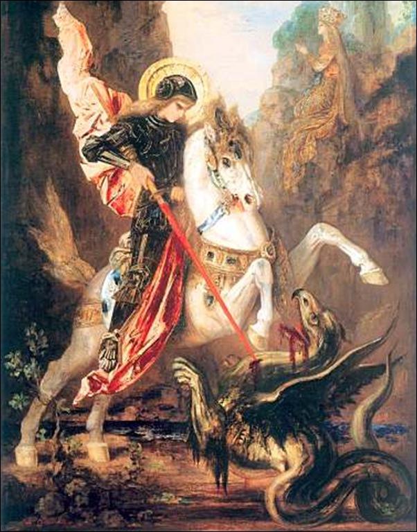 Gustave Moreau, St Geoges et le dragon