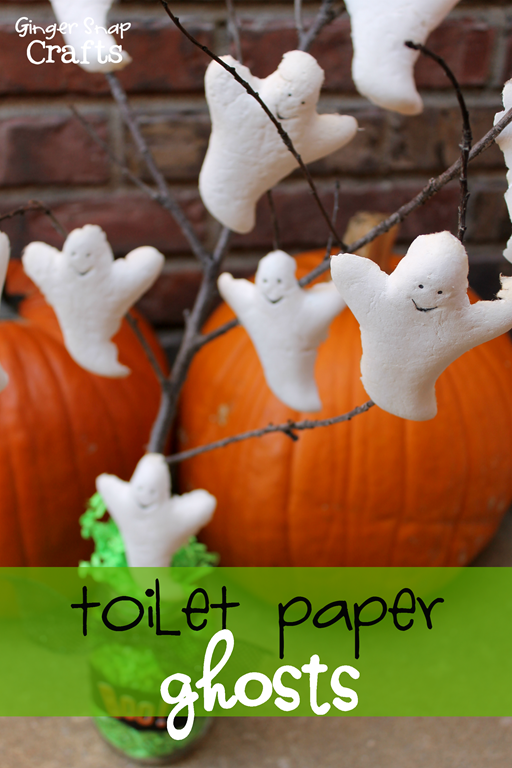 Toilet Paper Ghost #TargetCottonelle #pmedia #ad GingerSnapCrafts.com