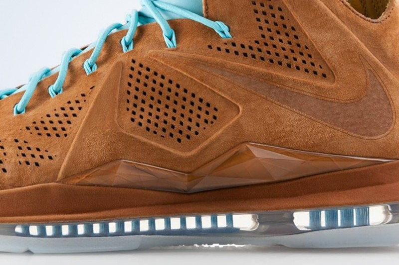 a643c093bb21 Release Reminder  Nike LeBron X EXT Brown Suede aka Hazelnut ...