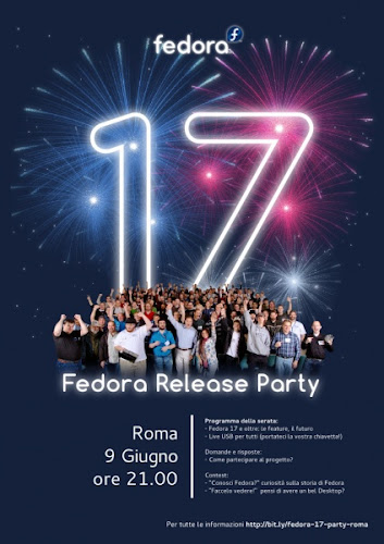 Fedora Release Pizza Party