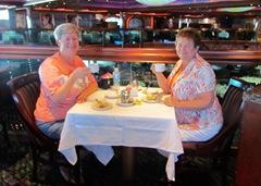 Diane Barb At Tea - raise those pinkys ladies!