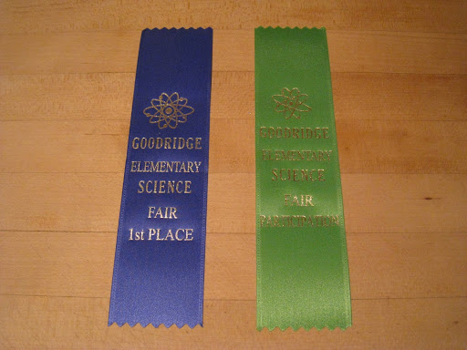 1st place ribbon for 2nd grade.