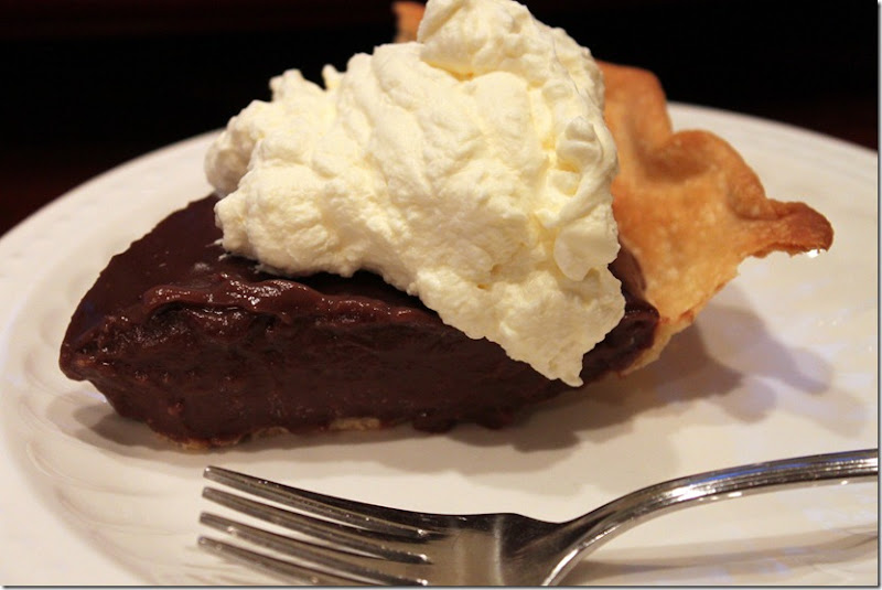 Chocolate Pie with Orange Flavored Whipped Cream 040