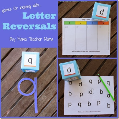 Games for Letter Reversal from Boy Mama Teacher Mama