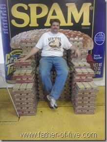 The Father of Five atop the Spam Throne