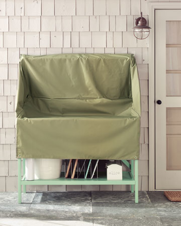 For rogue showers in the summer this cover will keep everything protected.