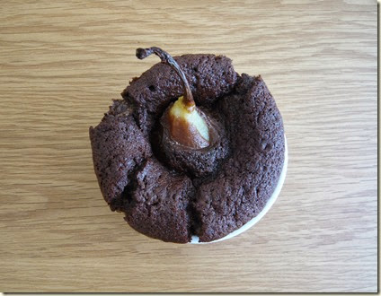 pear and chocolate pudding