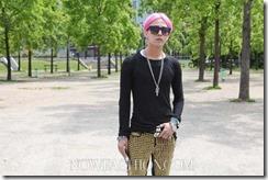 k-pop G Dragon rambut pink di paris 1